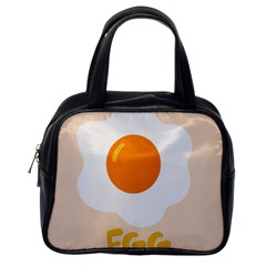 Egg Eating Chicken Omelette Food Classic Handbags (one Side)