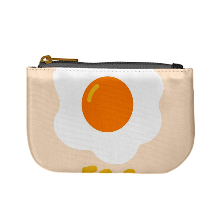 Egg Eating Chicken Omelette Food Mini Coin Purses