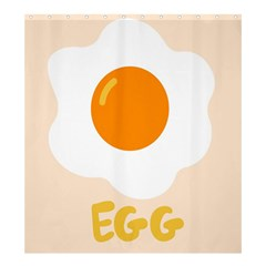 Egg Eating Chicken Omelette Food Shower Curtain 66  X 72  (large)  by Nexatart