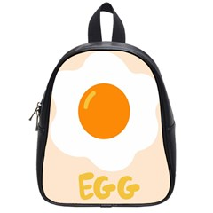 Egg Eating Chicken Omelette Food School Bags (small)  by Nexatart