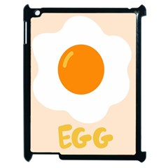 Egg Eating Chicken Omelette Food Apple Ipad 2 Case (black) by Nexatart