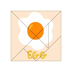 Egg Eating Chicken Omelette Food Acrylic Tangram Puzzle (4  X 4 ) by Nexatart