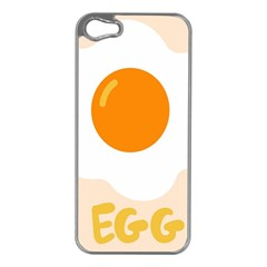 Egg Eating Chicken Omelette Food Apple Iphone 5 Case (silver) by Nexatart
