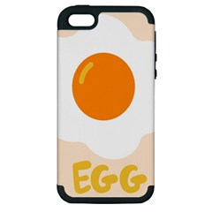 Egg Eating Chicken Omelette Food Apple Iphone 5 Hardshell Case (pc+silicone)