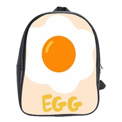 Egg Eating Chicken Omelette Food School Bags (xl)  by Nexatart