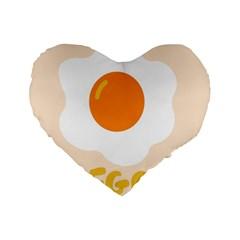 Egg Eating Chicken Omelette Food Standard 16  Premium Heart Shape Cushions
