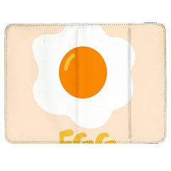 Egg Eating Chicken Omelette Food Samsung Galaxy Tab 7  P1000 Flip Case