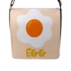Egg Eating Chicken Omelette Food Flap Messenger Bag (l)  by Nexatart