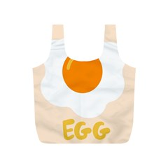 Egg Eating Chicken Omelette Food Full Print Recycle Bags (s)