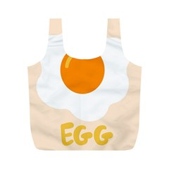 Egg Eating Chicken Omelette Food Full Print Recycle Bags (m)