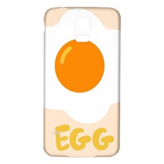 Egg Eating Chicken Omelette Food Samsung Galaxy S5 Back Case (white) by Nexatart