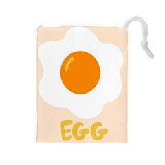 Egg Eating Chicken Omelette Food Drawstring Pouches (large)