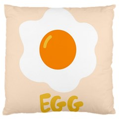 Egg Eating Chicken Omelette Food Large Flano Cushion Case (one Side)