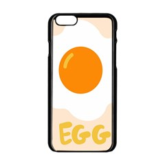 Egg Eating Chicken Omelette Food Apple Iphone 6/6s Black Enamel Case by Nexatart