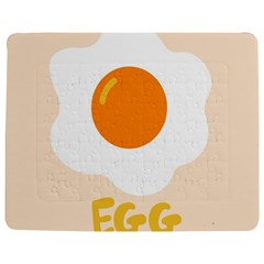 Egg Eating Chicken Omelette Food Jigsaw Puzzle Photo Stand (rectangular) by Nexatart