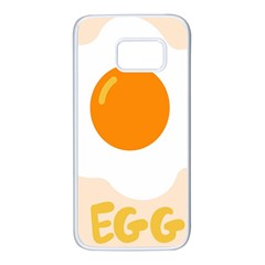 Egg Eating Chicken Omelette Food Samsung Galaxy S7 White Seamless Case by Nexatart