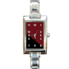 Walking Stairs Steps Person Step Rectangle Italian Charm Watch