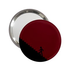 Walking Stairs Steps Person Step 2 25  Handbag Mirrors by Nexatart