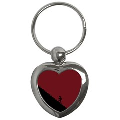 Walking Stairs Steps Person Step Key Chains (heart)  by Nexatart