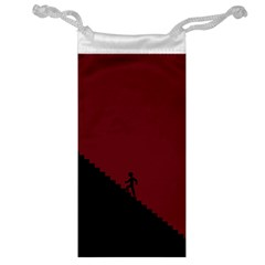 Walking Stairs Steps Person Step Jewelry Bag by Nexatart