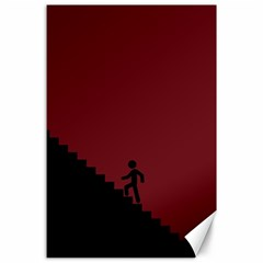 Walking Stairs Steps Person Step Canvas 24  X 36
