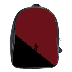 Walking Stairs Steps Person Step School Bags(large)  by Nexatart