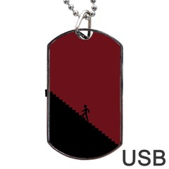 Walking Stairs Steps Person Step Dog Tag Usb Flash (two Sides)