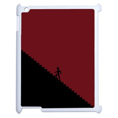 Walking Stairs Steps Person Step Apple Ipad 2 Case (white) by Nexatart