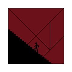 Walking Stairs Steps Person Step Acrylic Tangram Puzzle (6  X 6 ) by Nexatart