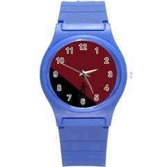 Walking Stairs Steps Person Step Round Plastic Sport Watch (s) by Nexatart