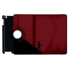Walking Stairs Steps Person Step Apple Ipad 3/4 Flip 360 Case by Nexatart