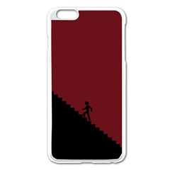 Walking Stairs Steps Person Step Apple Iphone 6 Plus/6s Plus Enamel White Case