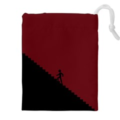 Walking Stairs Steps Person Step Drawstring Pouches (xxl)