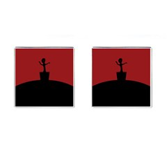 Baby Groot Guardians Of Galaxy Groot Cufflinks (square) by Nexatart