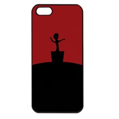 Baby Groot Guardians Of Galaxy Groot Apple Iphone 5 Seamless Case (black) by Nexatart