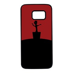 Baby Groot Guardians Of Galaxy Groot Samsung Galaxy S7 Black Seamless Case by Nexatart