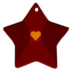 Heart Red Yellow Love Card Design Ornament (star)