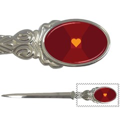 Heart Red Yellow Love Card Design Letter Openers by Nexatart