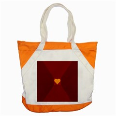 Heart Red Yellow Love Card Design Accent Tote Bag by Nexatart