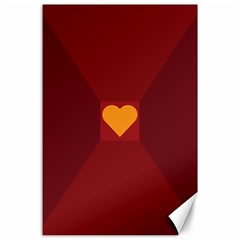 Heart Red Yellow Love Card Design Canvas 24  X 36