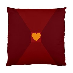 Heart Red Yellow Love Card Design Standard Cushion Case (one Side) by Nexatart