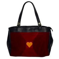 Heart Red Yellow Love Card Design Office Handbags by Nexatart
