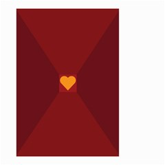 Heart Red Yellow Love Card Design Small Garden Flag (two Sides) by Nexatart