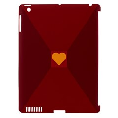 Heart Red Yellow Love Card Design Apple Ipad 3/4 Hardshell Case (compatible With Smart Cover) by Nexatart