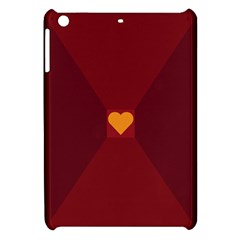 Heart Red Yellow Love Card Design Apple Ipad Mini Hardshell Case by Nexatart