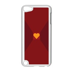 Heart Red Yellow Love Card Design Apple Ipod Touch 5 Case (white)