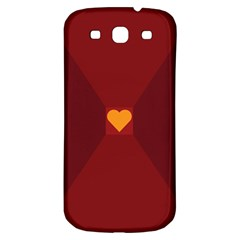 Heart Red Yellow Love Card Design Samsung Galaxy S3 S Iii Classic Hardshell Back Case by Nexatart