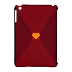Heart Red Yellow Love Card Design Apple Ipad Mini Hardshell Case (compatible With Smart Cover) by Nexatart