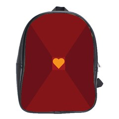 Heart Red Yellow Love Card Design School Bags (xl)  by Nexatart
