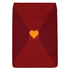 Heart Red Yellow Love Card Design Flap Covers (s)  by Nexatart